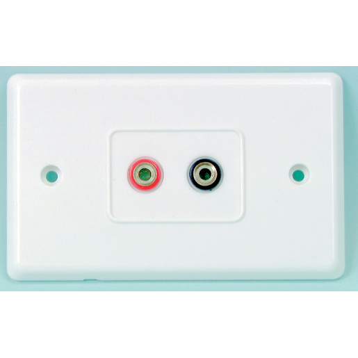 BANANA Sockets ON LARGE WALLPLATE - 2 way