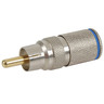 Crimpless RCA Plug - Blue