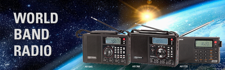 World band radio banner
